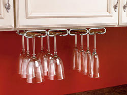 "Rev-A-Shelf® 11"" Chrome Quad Stemware Holder"