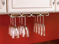 "Rev-A-Shelf® 11"" Satin Nickel Quad Stemware Holder"