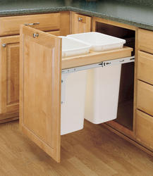 Rev-A-Shelf® Double Top-Mount Waste Containers - 50 qt.