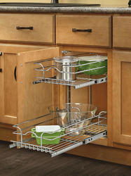 "Rev-A-Shelf® 9"" x 18"" x 19"" 2-Tier Wire Baskets"