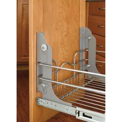 Rev-A-Shelf® Metallic Silver Door-Mounting Kit
