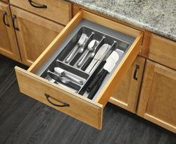 "Rev-A-Shelf® 14"" Metallic Silver Cutlery Drawer Insert"