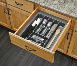 "Rev-A-Shelf® 17"" Metallic Silver Cutlery Drawer Insert"