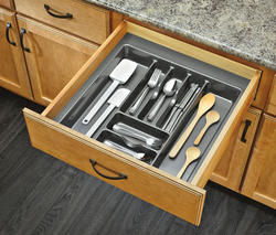"Rev-A-Shelf® 21"" Metallic Silver Cutlery Drawer Insert"
