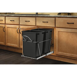 Rev-A-Shelf® Black Double Waste Containers - 27 qt.