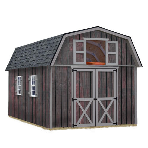 Best barns woodville 10 39 x 16 39 shed kit without floor at for Garden shed kits menards