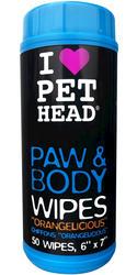 Pet Head Orangelicious Paw & Body Dog Wipes - 50-ct