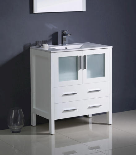 fresca torino 30 white modern bathroom vanity ensemble w integrated