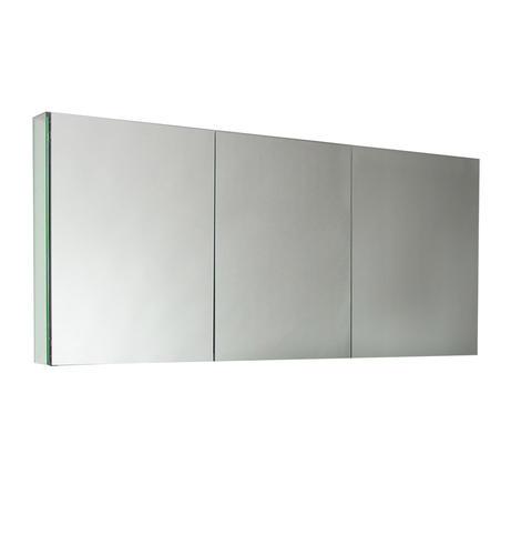 Fresca 60 wide bathroom medicine cabinet w mirrors at menards - Menards bathroom wall cabinets ...