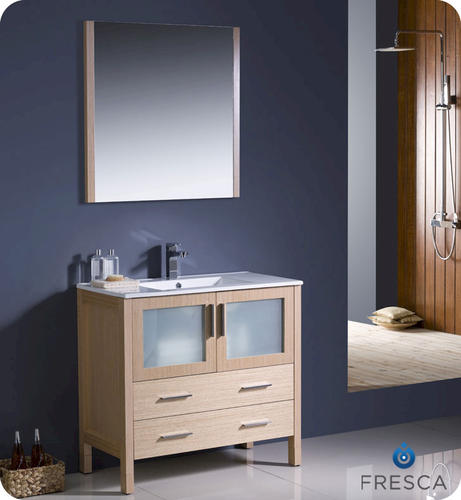 36quot; Light Oak Modern Bathroom Vanity w/ Undermount Sink at Menards
