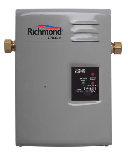 richmond encore 13 kw tankless electric water heater at menards. Black Bedroom Furniture Sets. Home Design Ideas