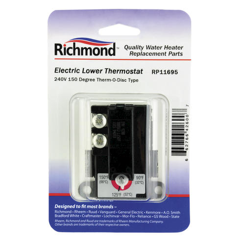 Richmond 240V Electric Lower Thermostat for Water Heaters