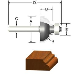 """3/16"""" Cove and Fillet Router Bit"""