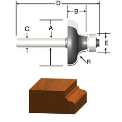 "1/4"" Ogee Router Bit"