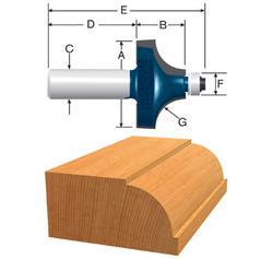 """Bosch® 3/8"""" Beading Router Bit"""