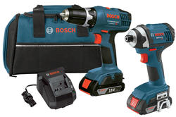 18-volt Lithium-Ion 2-Tool Combo Kit with 3/8-Inch Drill/Driver, 1/4-Inch Hex Impact Driver, 2 Slim Pack Batteries, Charger and Case