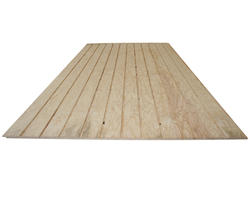 "Roseburg 19/32"" x 4' x 8' Douglas Fir Plywood Siding with 4"" O.C. Groove"