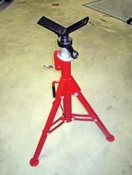 ROTHENBERGER Folding SuperJack V-Head Pipe Folding Stand