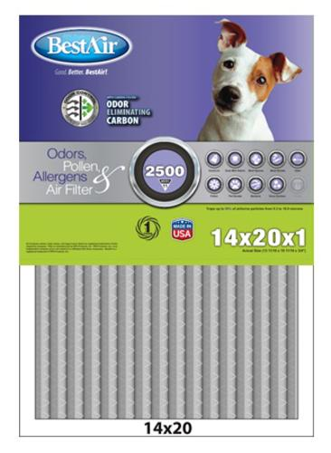 """Carbon Infused Odor Reduction Filter 14"""" x 20"""" x 1"""""""