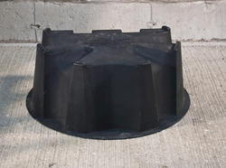 Black Flatback Rain Barrel Stand