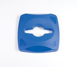 Untouch 23 Gallon Square Blue 1-Stream Recycle Top