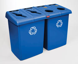 Glutton Blue 4-Stream Recycling Station
