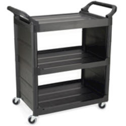 """Utility Cart with 3"""" Diameter Swivel Casters and End Panels"""