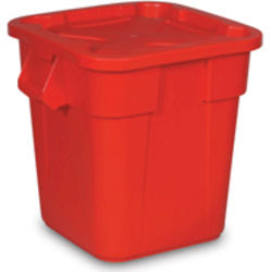 Combo Pack, 3526 Square BRUTE® Container, 3529 Snap-Lock® Lid - 28 gallon