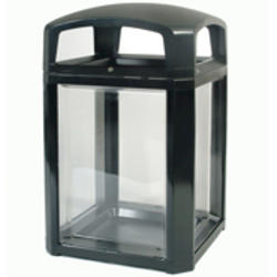 Landmark Series® Security Container with Lock and Clear Panels