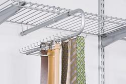 Configurations® Sliding Tie and Belt Organizer-Titanium