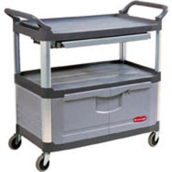 Instrument Cart with Lockable Doors and Sliding Drawers