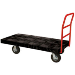 "Standard Platform Truck, 8"" Diameter Pneumatic Rubber Wheels, Crossbar Handle"
