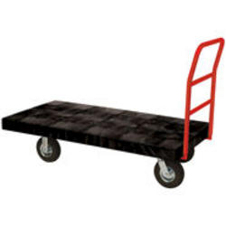"""Standard Platform Truck, 8"""" Diameter Pneumatic Rubber Wheels, Crossbar Handle"""