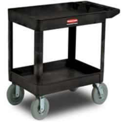 2-Shelf Cart with Pneumatic Casters