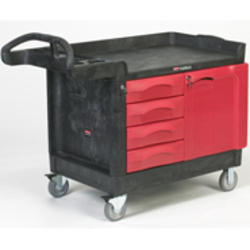 TradeMaster® Cart with 4-Drawer and Cabinet (Small)
