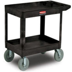 2-Shelf Utility Cart with Pneumatic Casters