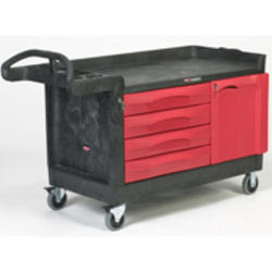 TradeMaster® Cart with 4-Drawer and Cabinet (Large)