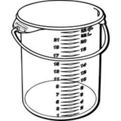 Round Storage Container with Bail