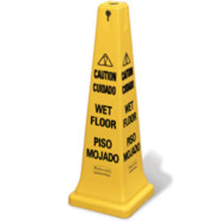 """Safety Cone 36"""" with Multi-Lingual """"Caution, Wet Floor"""" Imprint"""