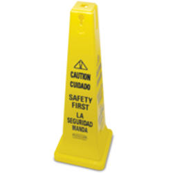 """Safety Cone 36"""" w/Multi-Lingual """"Caution, Safety First"""" Imprint"""