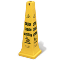 "Safety Cone 36"" (91.4 cm) with Multi-Lingual ""Caution"" Imprint"