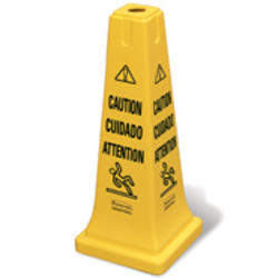 "Safety Cone 25-3/4"" with Multi-Lingual ""Caution"" Imprint"
