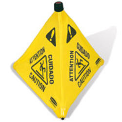 "Pop-Up Safety Cone, 30"" (76.2 cm) with Multi-Lingual ""Caution"" Imprint and Wet Floor Symbol"
