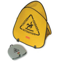 """Folding Safety Cone with """"Caution"""" Imprint (English, Spanish, French)"""