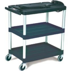 """Audio-Visual Cart, Open Cart with 3 Shelves, 3"""" Diameter Casters"""