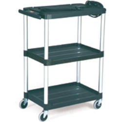 "Audio-Visual Cart, Open Cart with 3 Shelves, 4"" Diameter Casters"