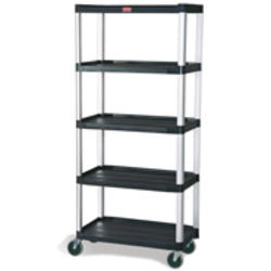 """Mobile Shelf Truck, 5-Shelf Mobile Truck with 5"""" Diameter Casters, 2 with Locks"""