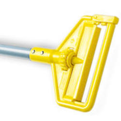 Invader® Side Gate Wet Mop Handle (Large Yellow Plastic Head, Gray Aluminum Handle)