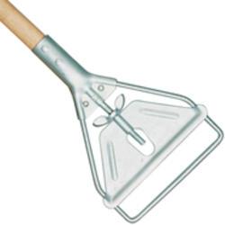 Stirrup Style Wet Mop Handle (Large Yellow Steel Head, Wood Handle)