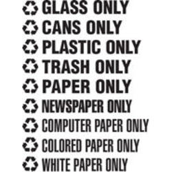"Recycle Decals ""PAPER ONLY"""